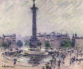 Gustave Loiseau: Paris, Place de la Bastille