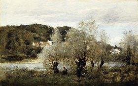 Jean-Baptiste Camille Corot: Angler an einem Teich bei Avary