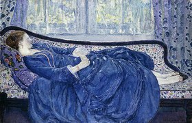 Frederick Karl Frieseke: Schlafende in Blau