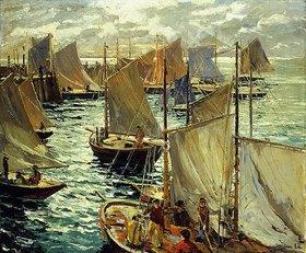 Jonas Lie: Männer auf einem Segelboot