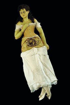Unbekannt: Eine schwangere Frau. (Anatomisches Modell)