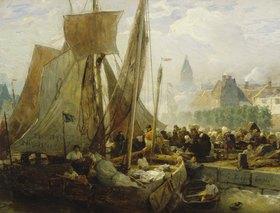 Andreas Achenbach: Fischmarkt in Ostende