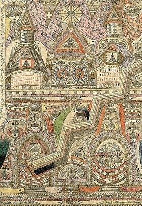 Adolf Wölfli: Kathedrale (Blatt aus 'Heft No. 15')