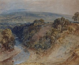 Joseph Mallord William Turner: The Valley of the Washburn, Otley Chevin in the Distance