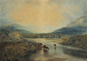 Joseph Mallord William Turner: Abergavenny Bridge, Monmouthshire: Clearing Up After A Showery Day. (Aufklaren nach einem regnerischen Tag.)