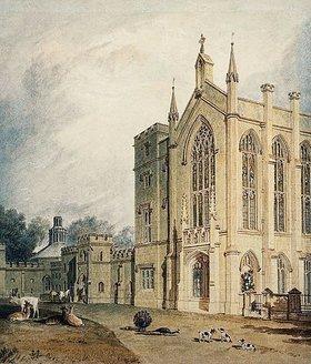 Joseph Mallord William Turner: Cassiobury, West Front. Um 1807