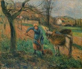 Camille Pissarro: Bauersfrau mit Esel, Pontoise