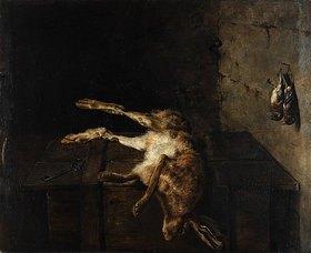 Antoine Marie Girot: Stillleben mit totem Hasen