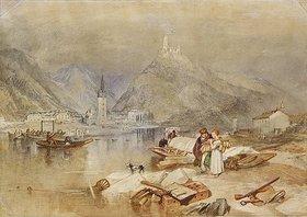 Joseph Mallord William Turner: Berkastel an der Mosel mit der Ruine der Burg Landshut (Berncastel on the Moselle with the Ruins of Landshut). Um 1834