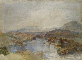 Joseph Mallord William Turner: Genf aus westlicher Sicht, am Zusammenfluss der Flüsse Rhone und Arve (Geneva From The West, From The Junction Of The Arve And The Rhone)