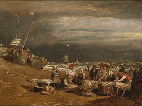 Joseph Mallord William Turner: Ein Fischmarkt am Strand