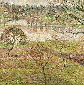 Camille Pissarro: Überschwemmung in Eragny