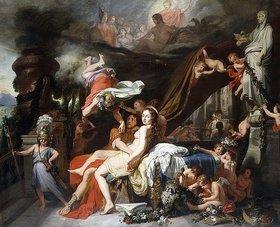 Gerard de Lairesse: Merkur befiehlt Kalypso die Freigabe des Odysseus