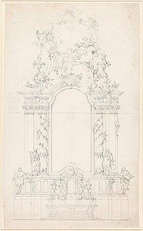 Johann Baptist Straub: Entwurf für einen Hochaltar