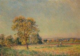 Alfred Sisley: Sommerlandschaft mit großem Ba