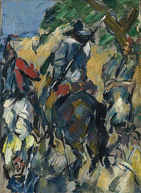 Paul Cézanne: Don Quijote, Rückansicht