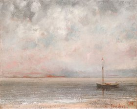 Gustave Courbet: Wolken am Genfersee (Nuages sur la Lac Leman)