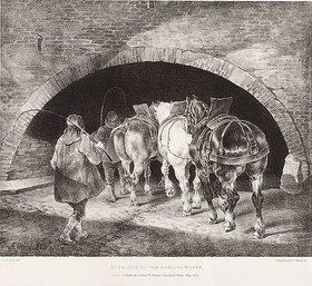 Gericault Theodore: Entrance to the Adelphi Wharf