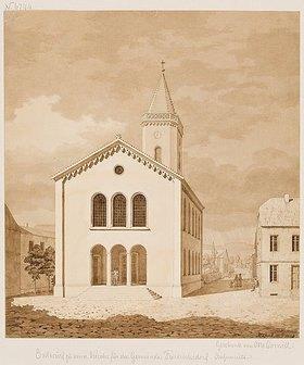 Heinrich Hübsch: Entwurf zu einer Kirche für die Gemeinde Friedrichsdorf