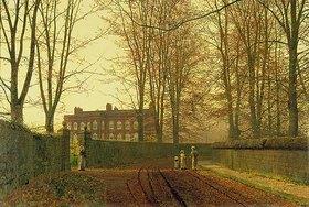 John Atkinson Grimshaw: Herbstlicher Kirchgang