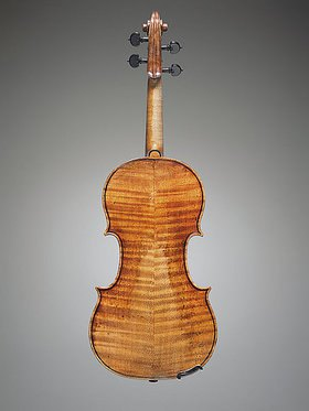 Antonio Stradivari: Eine Geige, bekannt als 'The Penny'. Cremona, ca. 1700. Boden. (siehe auch Bildnummern 40884 und 40886)