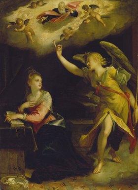 Hans von Aachen: Verkündigung Mariae. 1605. Lwd., 121 x 87 cm