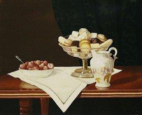 George Cope: Stillleben mit Süßigkeiten und Erdbeeren