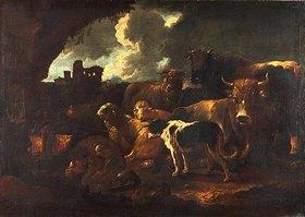 Philipp Peter (da Tivoli) Roos: Ruhende Herde. Kurz nach
