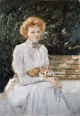Max Slevogt: Dame mit Katze