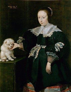 Cornelis de Vos: Bildnis eines elfjährigen Mädchens mit Hündchen