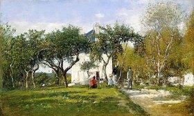 Eugène Boudin: Fervaques, Garten und Haus von Herrn Jacquette