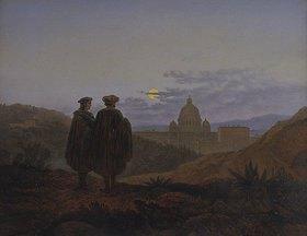 Carl Gustav Carus: Erinnerung an Rom. (Raffael u. Michelangelo im Anblick der Peterskirche)