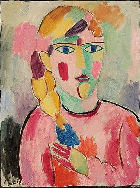 Alexej von Jawlensky: Mädchen mit blauen Augen und einem Zopf