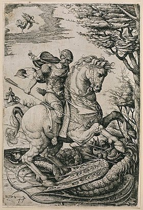 Daniel Hopfer: Der Heilige Georg im Kampf mit dem Drachen