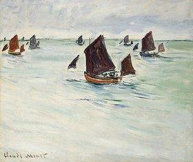 Claude Monet: Fischerboot auf dem Large de Pourville (Bateaux de Pêche au Large de Pourville)
