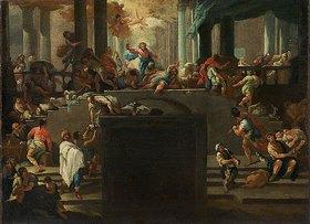 Lambert Krahe: Die Vertreibung der Wechsler aus dem Tempel