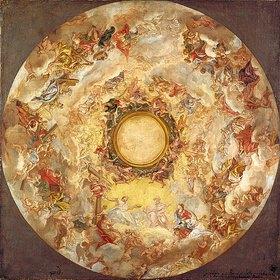 Giovanni Battista (gen. Baccicio) Gaulli: Die Aufnahme der hl. Agnes in den Himmel. Nach