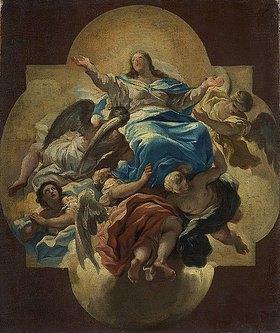 Luca (Fa Presto) Giordano: Die Himmelfahrt Mariä (Farbskizze)
