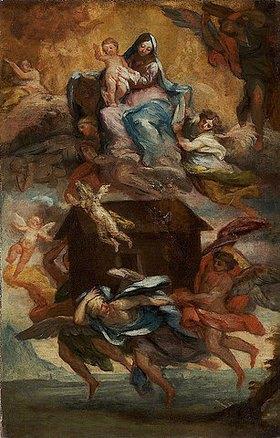 Pietro de' Pietri: Übertragung des Hauses von Loreto. Spätes 17. Jh