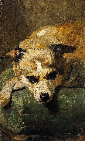 Hans von Marées: Kopf eines Hundes