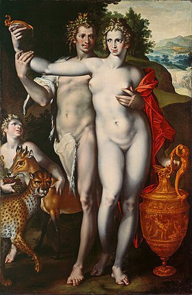 Bartholomäus Spranger: Bacchus und Venus