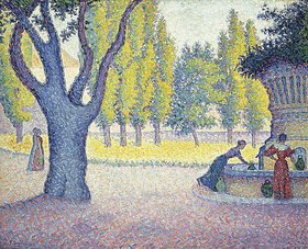 Paul Signac: Der Brunnen 'Fontaine des Lices' in St. Tropez