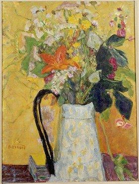 Pierre Bonnard: Blumenstrauß in weißem Krug