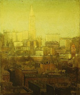Paul Cornoyer: New York Cityscape