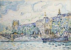 Paul Signac: Le Palais du Louvre. Juli