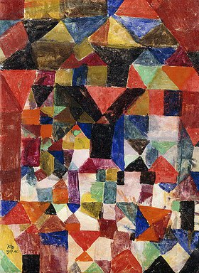 Paul Klee: Stadtartiger Aufbau. 1917