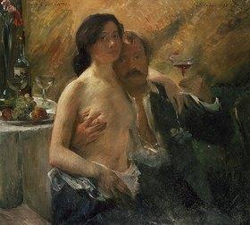 Lovis Corinth: Selbstbildnis mit seiner Frau und Sektglas