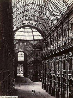 Giorgio Sommer: Die Galleria Vittorio Emanuele II in Mailand