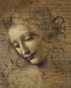 Leonardo da Vinci: Kopf eines Mädchens. 15. Jh