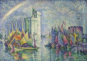 Paul Signac: Regenbogen über dem Hafen von La Rochelle (Arc-en-ciel, La Rochelle, le Port)